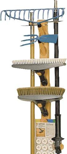 Gardena combisystem-Geräteleiste: Wandhaken für die Aufbewahrung von 6 combisystem-Geräten und Stielen, platzsparend, aus hochwertigem Kunststoff und Metall, inkl. Schrauben und Dübeln (3500-20)