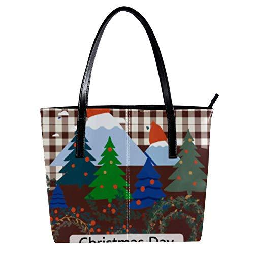 Bolsos de mujer de árbol de abeto de plata de Navidad, bolsa...