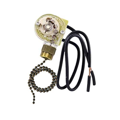 Hunter Zing Ear ZE-109 Interruptor de ventilador de techo, para ventiladores de techo, lámparas y luces de pared (cadena de bronce de tracción)