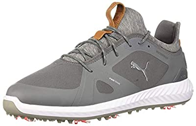PUMA Golf Men's Ignite Pwradapt Golf Shoe, Quiet Shade/Quiet Shade, 12 Medium US
