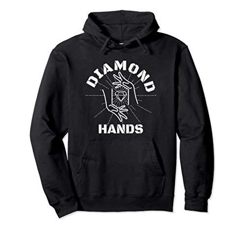 GME Diamond Hands Autist Stonk Market Tendie Stock WHT Text Pullover Hoodie