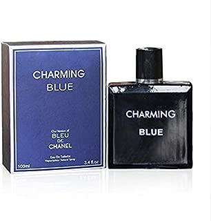 CHARMING BLUE, 3.4 fl oz.Eau De Toilette Spray for Men, Perfect Gift