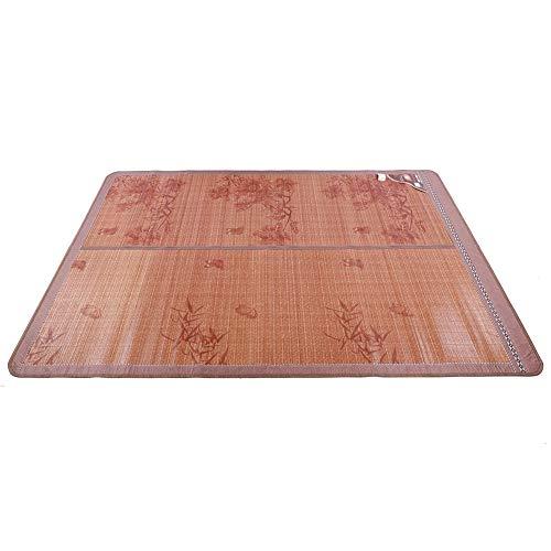 Wosune Estera de bambú, colchones de enfriamiento, Estera de enfriamiento portátil, Verano para el Dormitorio de los niños en casa(150 * 195cm, Blue)