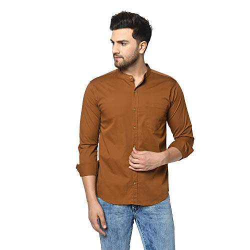 STUDIO NEXX Men's Cotton Casual Shirt Mustard
