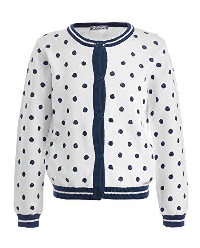 GULLIVER Cardigan - Jersey de punto para niña (manga larga, con botones, 2-7 años, 98-128 cm), color blanco