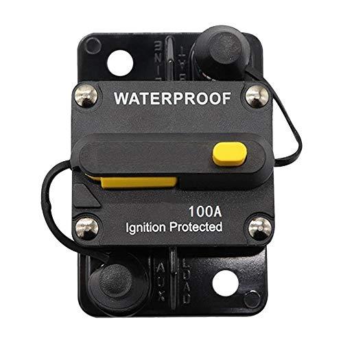 ANJOSHI 100 Amp impermeable disyuntor 30A-300A auto protección del coche en línea fusible estéreo interruptor portafusibles sin reemplazo de fusible