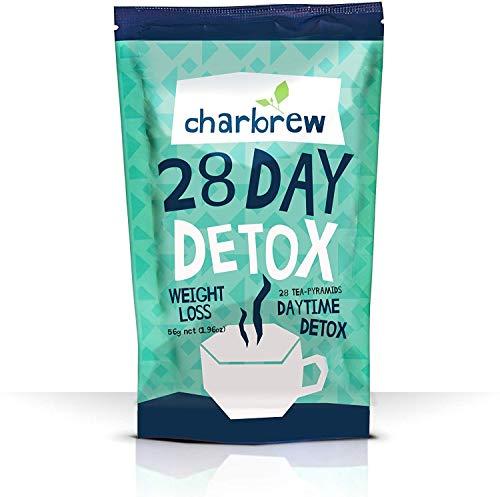Thé de jour Charbrew Tea Detox Thé de perte de poids en 28 jours (sans effet laxatif)
