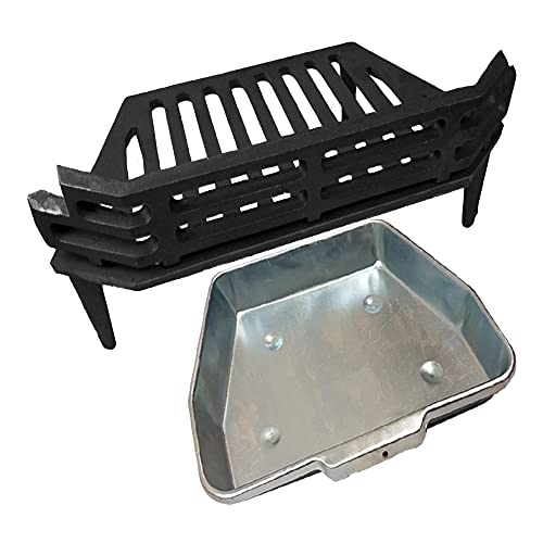 """WW/Victorian Fire Grate, Ash Pan for 16"""" Fireplace Opening"""