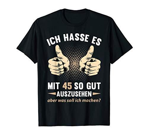 45. Geburtstag Damen Herren 45 Jahre Jahrgang 1975 Geschenk T-Shirt