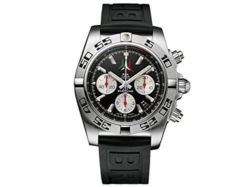 Breitling Orologio Cronografo Quarzo Uomo con Cinturino in Gomma EAB101-3-18A
