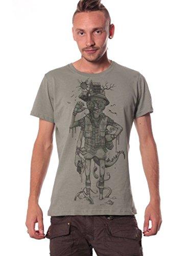 Hunter S. Thompson Men's Tshirt - Fear and Loathing in Las Vegas Clothing - Graphic Tshirt - Medium LightGreen