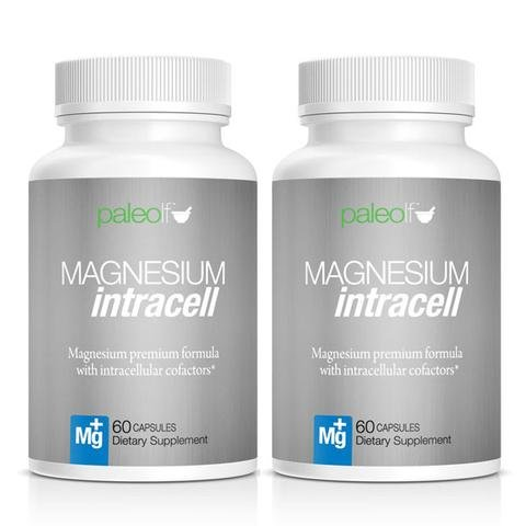 Paleo Life Magnesium Intracell 500 mg. Powerful Formula with Taurine, Folic Acid, B6, B12 Vitamin 60 Capsules, 60 Day Supply 2 Months Supply of The Magnesium Citrate Intracel (120 Capsules)