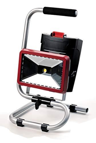 Oregon 581612 LED-spots met twee standen inclusief stopcontact 220 V en compatibel met lithium-accu, 36 V, rood/zwart/grijs