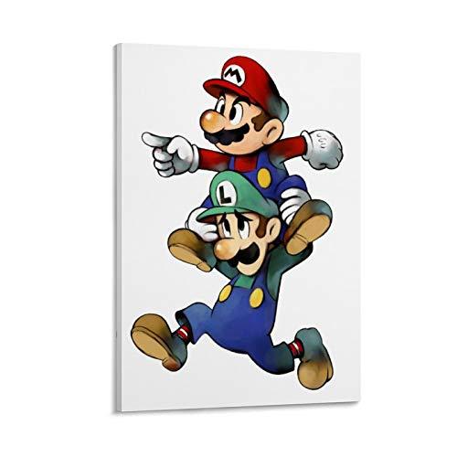 Poster decorativo da parete con drago di vini, Mario e Luigi Superstar Saga, 60 x 90 cm