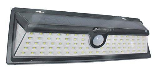Lampe Detecteur de Mouvement Solaire Imperméable Eclairage de Sécurité Luminaire Extérieur Résistant à l'eau pour Chemins Mural Jardin, Pont, Allée et Garage comme Applique avec 4 Mode (90 LED)
