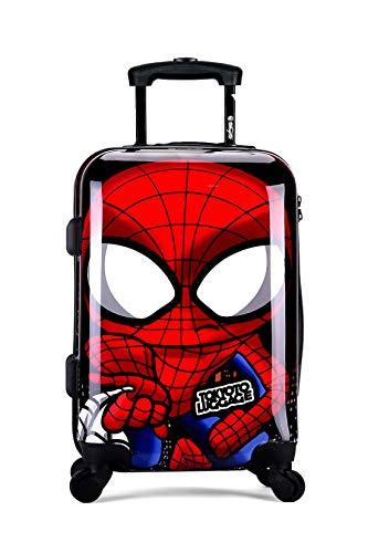 TOKYOTO - Maleta de Cabina Equipaje Infantil Niños Spider Boy, 55x40x20 cm | Maleta Juvenil, Trolley de Viaje Ryanair, Easyjet | Maleta de Viaje Rígida