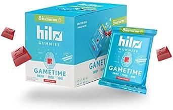 Hilo Gametime Nootropic Energy Gummies - Esports Gummy Supplement w/Cognizin, Caffeine, and L-Theanine - Berry Blast Flavor, 10 Single Serve Packs