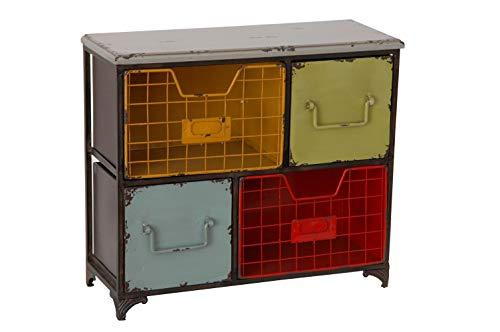 Sukima Decor Loft Colgante, Metal, Multicolor, 41x16x35 cm