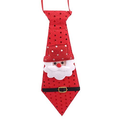 HBWHY Corbata de Navidad encantadoras corbatas ajustables collar de cuello para fiesta de Navidad accesorios de disfraz, Santa Claus