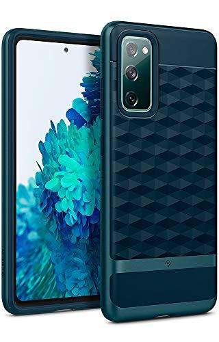 Caseology Parallax, Funda Galaxy S20 FE, Antigolpes, Diseño Geométrico, Patrón 3D, Carcasa Diseñada para Samsung Galaxy S20 FE - Aqua Green