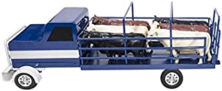Little Buster Toys Cattle Truck in Blue, 1/16th Scale