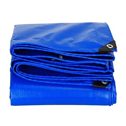Plane Wasserdicht,Tarp Abdeckung Wasserdichte Mehrzweck Poly Tarp Vertuschung-Blau Tarp Blatt - Aus 160gm / Quadratmeter Persenning (Size : 4m x 5m/13ft x 16ft)