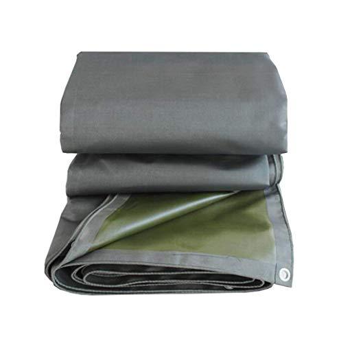 Betty - Lona de acampada para exteriores (0,65 mm de grosor, doble cara (gris + verde), impermeable, protección UV, cubierta de lona para el techo del coche, barco, cubierta de la lluvia, cubierta de la tienda de campaña, 650 g/m2, 3x3m