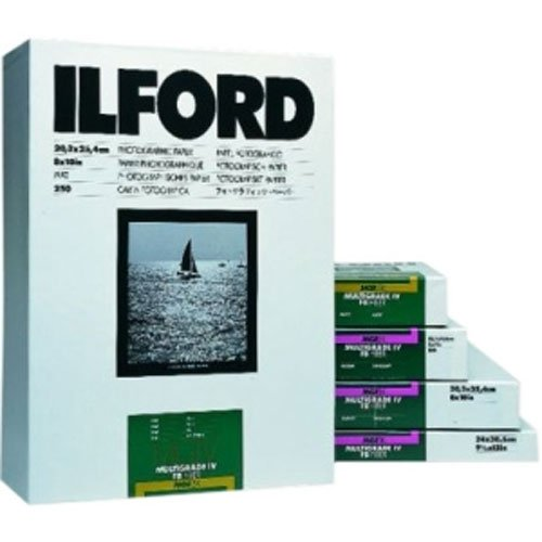 "Ilford Multigrade FB Classic Fiber Based Variable Contrast, Doubleweight Black & White Enlarging Paper 11x14"", 50 Sheets, Glossy - for Printing from Conventional Negatives."
