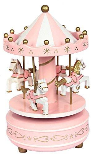 Klassisches Karussell Pferde Drehen Musik Spieluhr Home Dekoration Kind Urlaub Geburtstagsgeschenk