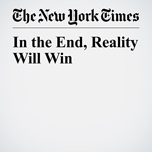 In the End, Reality Will Win copertina