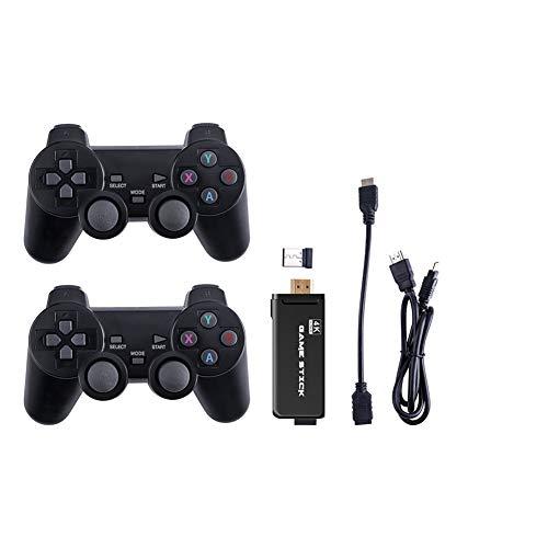 Mandos PC 2.4G, Controlador joystick inalámbrico juegos, Salida HDMI incorporada, Mini controlador retro 8 bits, Reproductor vibración dual, Controlador PC Con Bateria Incorporada, Negra 64G Versión