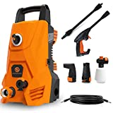 Product Image of the Electric Pressure Washer, Portable High Power Washer Machine 2000 Max PSI 1.32 GPM with 2 Nozzles, High Pressure Hoses, Detergent Tank, for Cleaning Homes, Cars, Decks, Driveways, Patios