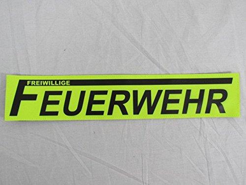 FREIWILLIGE FEUERWEHR 3M Reflex Rückenschild 42x8cm Zitronengelb