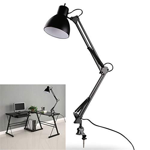 Lámparas de Bombilla LED Lámpara de Mesa Flexible Brazo oscilante Lámpara de Montaje con Abrazadera Estudio de Oficina Mesa de casa Luz de Escritorio Enchufe de la UE/EE. UU. AC85 265V E27/E26