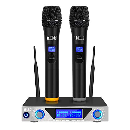 TONOR VHF Handheld Wireless Microphone System with Dual Hand Held Dynamic...