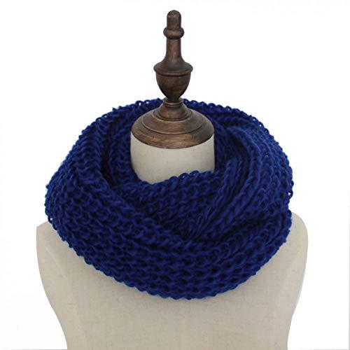 ALWYHH Winter gebreide sjaals vrouwen & mannen Ring sjaal Unisex Effen kraag hals Warmer haak lus sjaal