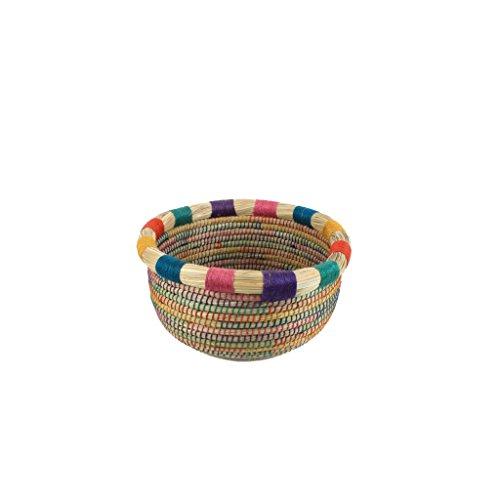 Gruener Handel - Kollektion Marrakesch - Aufbewahrungskorb - Handarbeit - Fair Trade (Ø 20cm)