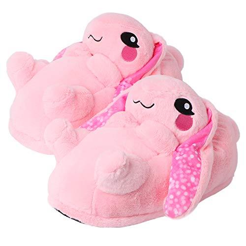 corimori Bonnie el Conejo Zapatillas De Casa Mujer (10 + modelos) Talla Única 34-44, Color Rosa (1847)