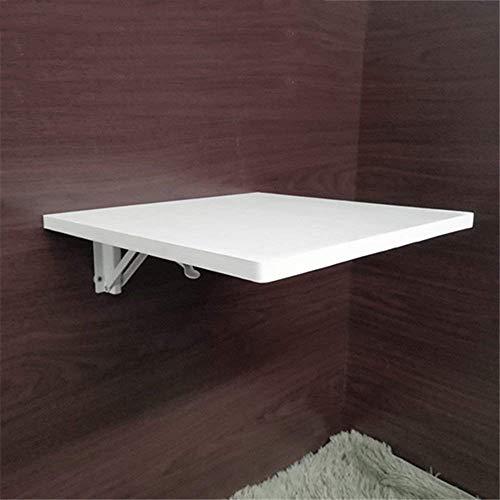 N/Z Wohngeräte Holz Meeting Esstisch Wandbehang Tisch Rechteckiger einfacher Wandtisch von Wandbehang Schreibtisch Compu Weiß 120 * 50cm