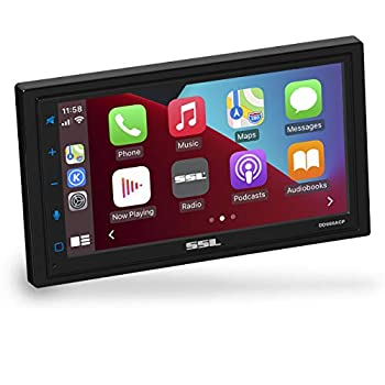 Sound Storm Laboratories DD988ACP Apple CarPlay Android Auto Car Multimedia Player - Double-Din 6.75 Inch LCD Touchscreen Bluetooth USB Aux in No CD-DVD AM/FM Car Radio