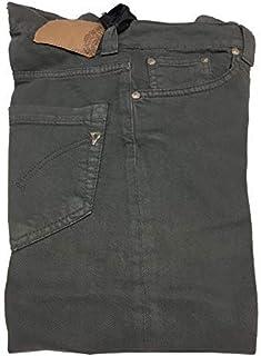 DONDUP Jeans Donna Color Vita Bassa con Bottoni Gamba Regolare Fondo cm 18 MOD P191 S016 Music 98% Cotone 2% Elastan Made ...