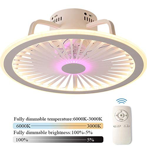 Ventilador De Techo Con Iluminación LED Luz De Techo Control Remoto Regulable Ultra Silencioso Can Timing Fan Chandelier Sala De Estar Moderna Dormitorio Lámpara De Ventilador Φ58