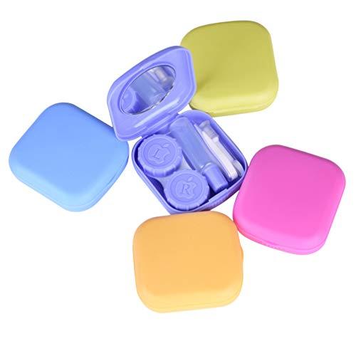 EXCEART 5 Packungen Mini-Reise-Kontaktlinsenbox-Sets Unterstützen Linsenbox Kontaktlinsen-Linsenbox für Studentinnen