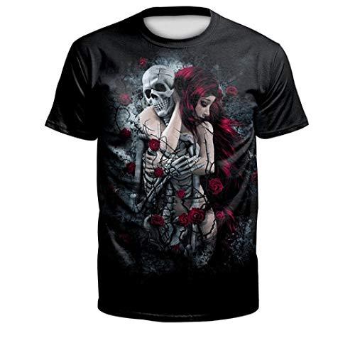 CZPF Heren T-shirt Halloween korte mouwen ademend en sneldrogend grote herenmaat