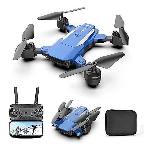 Dron con cámara Dron con cámara 4K HD para adultos y niños, cuadricóptero plegable con video en vivo FPV de gran angular, trayectoria de vuelo, control de aplicaciones, flujo óptico, retención de alt