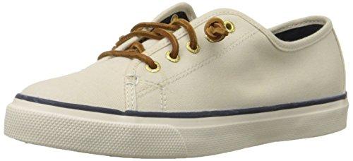 Sperry Women's Seacoast S Fashion Sneaker, Ivory, 8.5 M US
