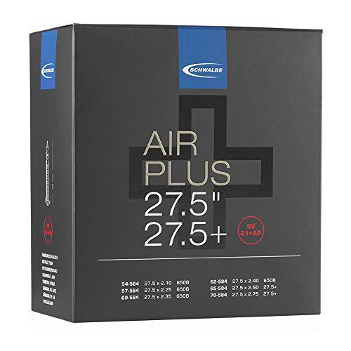 Schwalbe Unisex– Erwachsene Schlauch SV 21+AP Air Plus, Schwarz, 27 Zoll