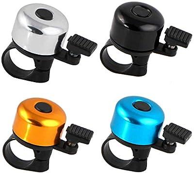 TDNE 4-teilige Mini-Fahrradglocke, Ultra-klar klingende Fahradklingel mit 22-25mm Lenker für Rennrad, Citybike, E-Bike oder Mountainbike Zubehör. (4/Mischfarben)