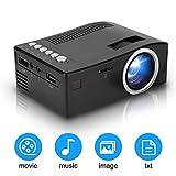 Tonysa Proiettore LED Portatile Proiettore Video AV/HDMI/USB/TF con Display da 180', Full HD 1080P supportato, per Smartphone Home Theater Entertainment, proiezione 15-110in