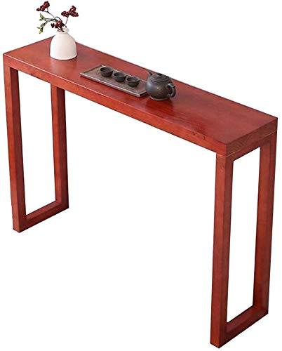 Tabla Tabla de entrada de Acento de Tabla, Mesa de bar de la consola alta, Muestra de escritorio estrecho Mesa de decoración para pasillos, salones Restaurante 3 Tamaños, 4Colors,Red wine,31×11.8×33in